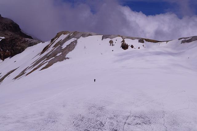 člověk na hoře