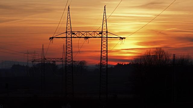 stožáry elektřiny